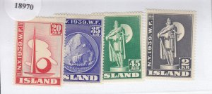 Iceland: Sc #213-216, MH, Complete Set (S18970)