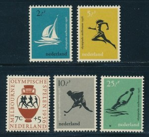 Netherlands - Melbourne Olympic Games Sports Set MNH (1956)