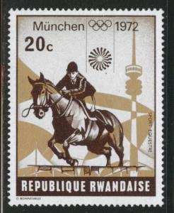 RWANDA Scott 478 Unused 1972 Munich Olymps Horse rider stamp