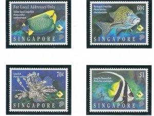 Singapore 733-36 MNH 1995 Fish (ap6894)