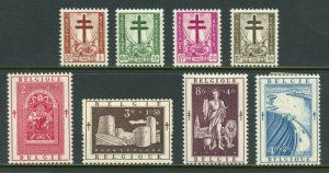 BELGIUM  SCOTT#B523/30   MINT HINGED WITH REMNANT -SCOTT $74.95  FOR NH
