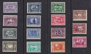 Iceland    #152-166   MH   1930   milenary of parliament  Althing