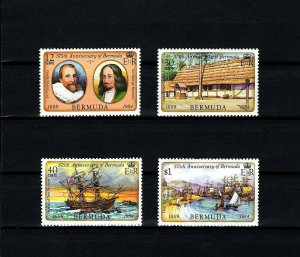 BERMUDA - 1984 - SAILING SHIP - MAP - 375th ANNIVERSARY - MINT - MNH SET!