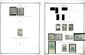 Brazil 1940-1957 MNH & Hinged in Mounts on Remaindered Scott Spec. Pages