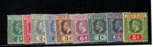 Virgin Islands #38 - #46 Mint Fine - Very Fine Original Gum Hinged Set