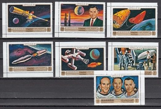 Manama MNH MI 746-52A Space Apollo 16