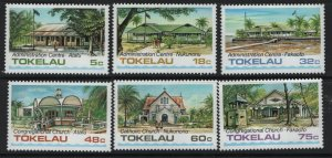 Tokelau  120-125 (6) set, MNH, 1985 Public buildings and churches
