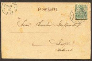 Germany Mi P156 Cutout Used on Zeppelin Donation Card 1926