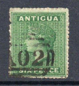 Antigua 1863 6d wmk star sideways SG 8 used