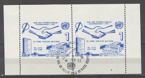 COLLECTION LOT # 4905 UNITED NATIONS PROOF MH PAIR 1965
