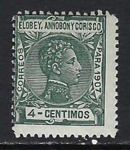 ELOBEY, ANNOBON Y CORISCO 42 MNH 176A