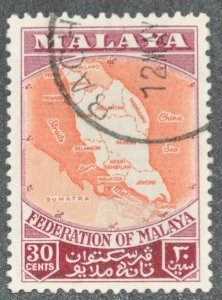 DYNAMITE Stamps: Federation of Malaya Scott #83 – USED