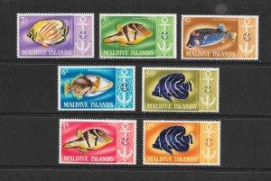 FISH - MALDIVES #214-20   MNH