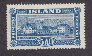 Iceland Sc 147 MLH. 1925 35a Reykjavik view, fresh, VLH, F-VF.