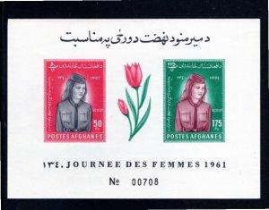 Afghanistan 1961 Scott 11a MNH Souvenir Sheet Imerforate