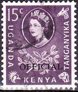 KENYA UGANDA TANGANYIKA 1960 QEII 15c Dull Purple SGO15 FU