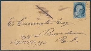 #9 ON COVER TIED BY UNCLEAR BROWN POSTMARK WITH CERT CV $280 BR6019