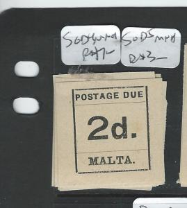 MALTA  (P1807B) POSTAGE DUE 2D  SG D4  MNH