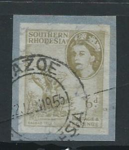 Southern Rhodesia 6d airmail letter stamp FU