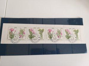 Monaco 1993 booklet Flowers