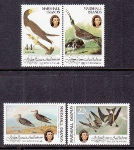 Marshall Islands 63-64,C1-C2 Birds MNH VF