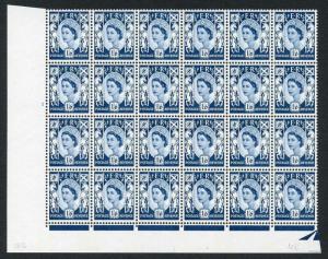 Scotland XS27 1/6 No Wmk Cyl 1 no Dot Block of 24