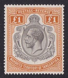 TANGANYIKA 1927 KGV £1 MNH ** Top Value