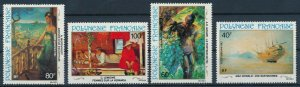 [I1208] Polynesia 1983 Airmail Painting good set of stamps very fine MNH