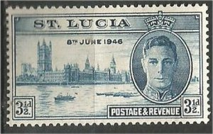 ST. LUCIA, 1946, MH 31/2p, Peace Issue Scott 128