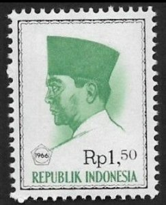 1966 Indonesia 530 President Sukarno