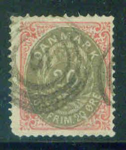 Denmark Scott 31 1875-9 stamp CV$26