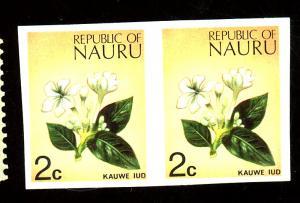 Nauru #92 MINT Imperf Pair VF OG NH Cat $130