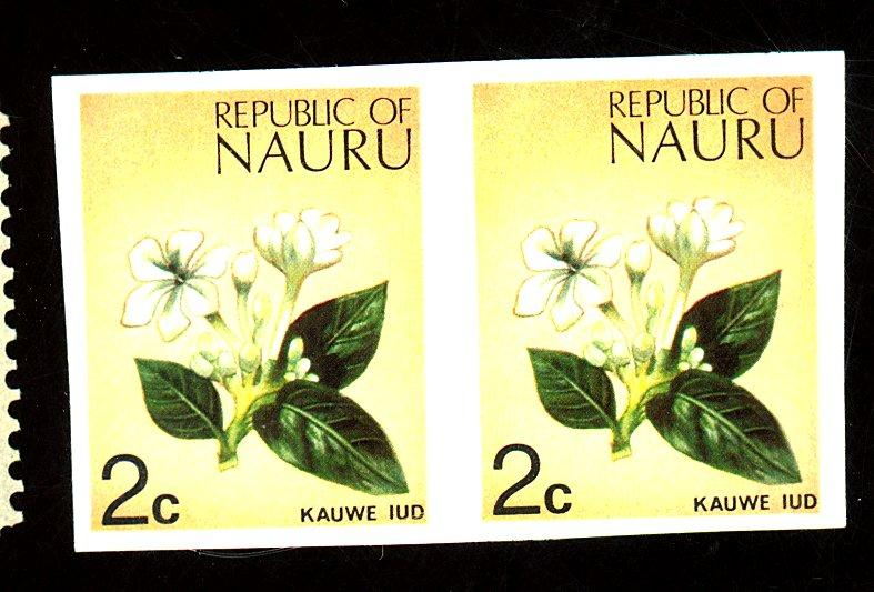 Nauru #92 MINT Imperf Pair VF OG NH Cat $130