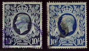 Great Britain SC#251, 251a Used F-VF SCV$29.75...Bid a Bargain!