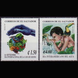 SALVADOR 1997 - Scott# 1464-5 Ozone Layer Set of 2 NH