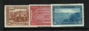 Canada SC# 241 - 243 Mint Hinged / Hinge Rem / All w Page Rem - S2756