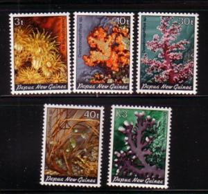 Papua New Guinea Sc575-9 1983 Corals stamps mint NH