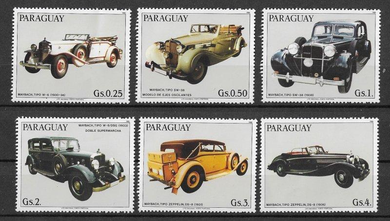 Paraguay MNH Set Of 6 German Cars