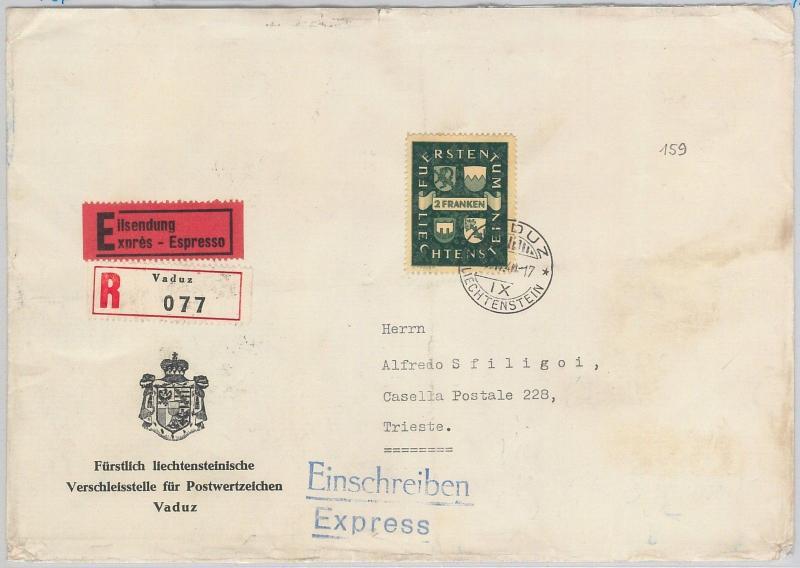 57243 - Liechtenstein - POSTAL HISTORY: Michel 183 on  Cover 1940 - RARE!
