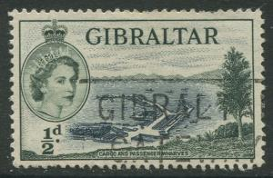 Gibraltar #132 QEII  Used  Scott CV. $0.25.