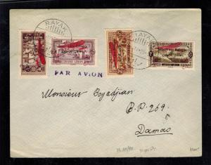 1925 Rayak Lebanon Airmail Cover to Damascus Syria