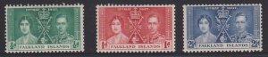 Falkland Islands Sc#81-83 MH