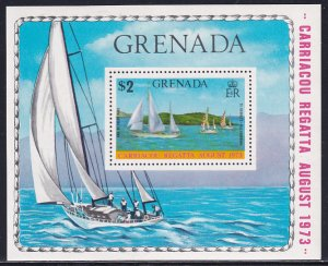 Grenada 1973 Sc 506 Carriacou Regatta Sail Boats Yachts Cruise Race Stamp SS MH