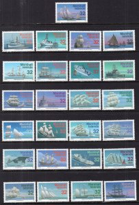 Marshall Islands 605a-605y Ships Singles MNH VF
