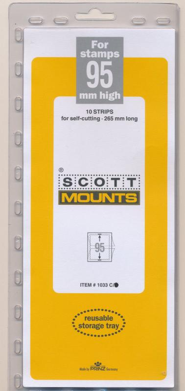 Prinz Scott Stamp Mount 95/265 CLEAR Background Pack of 5