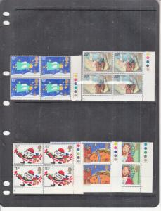 1981 CHRISTMAS BLOCKS OF 4 UMM/MNH SG1170-SG1174