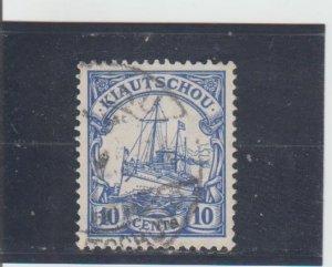 Kiauchau  Scott#  36  Used  (1909 Hohenzollern)