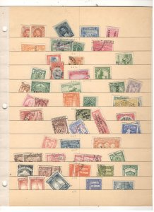 ECUADOR COLLECTION ON STOCK SHEET, MINT/USED