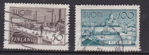 FINLAND  ^^^^^^^1941  sc# 278,279  used HIGH VALUES $$@ cam2690finl