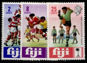 FIJI QEII SG478-480, 1973 diamond jubilee of rugby union set, NH MINT.